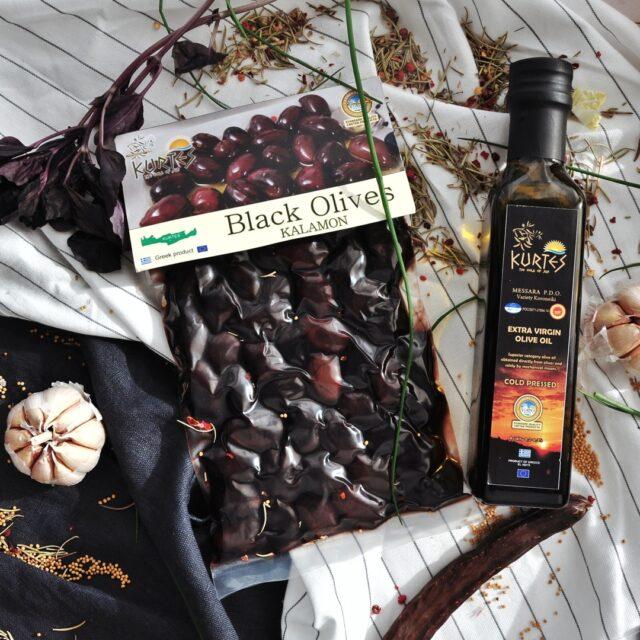Оливки черные сорт Каламон KURTES